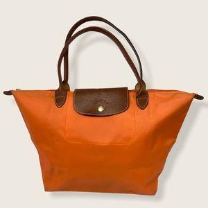 Longchamp Le Pliage Tote Bag Orange Large Foldable
